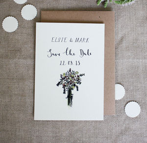 Bespoke Elsie Save The Date Postcard - save the date cards