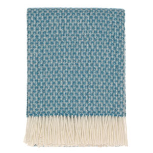 Turquoise Wool Throw - bedroom