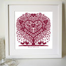 Personalised Mum's Family Tree Heart Print