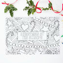Colour In Christmas Placemats Pack