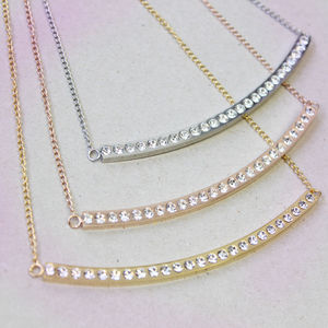 Crystal Bar Necklace - costume jewellery