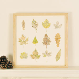 Vintage Map Leaves - contemporary art