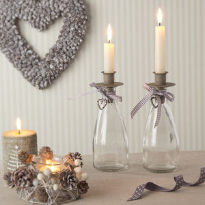 Glass Bottle Candle Holder - kitchen