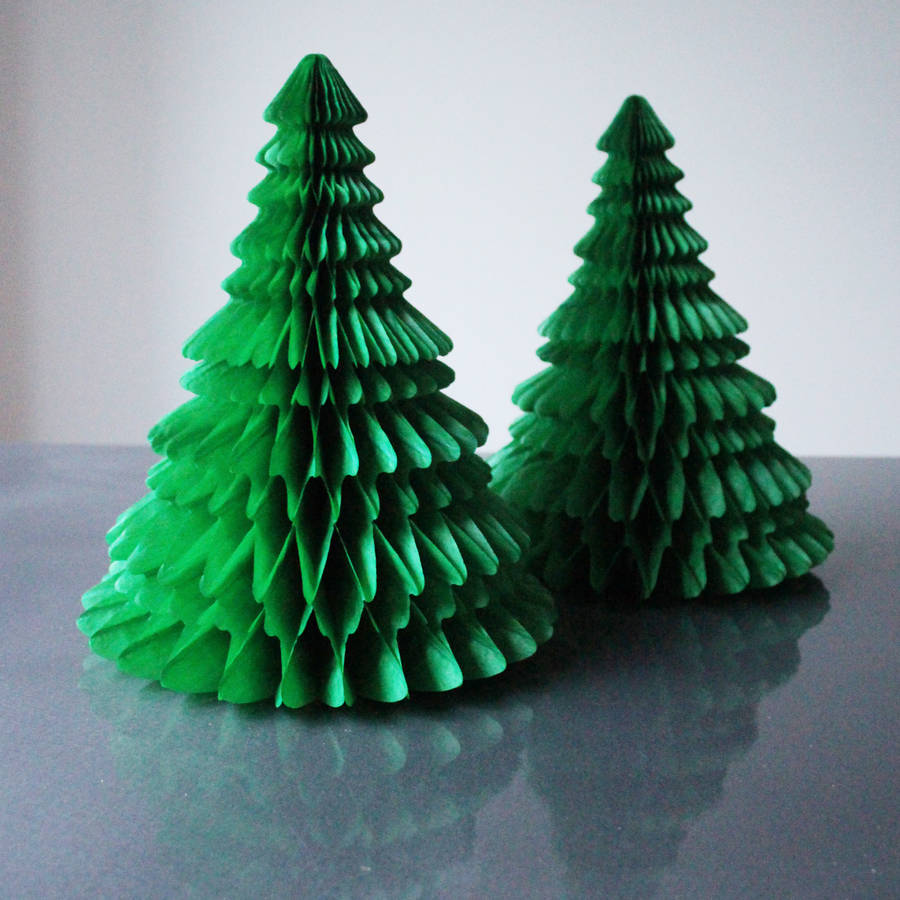 Newspaper Christmas Tree: Tissue Paper Christmas Tree Decoration By Pearl And Earl