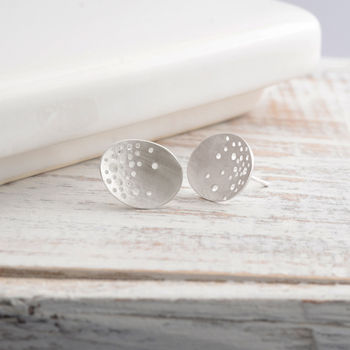 Silver Patterned Earrings