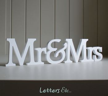 Personalised 'Mr & Mrs' Wooden Name Letters