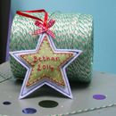 Personalised Embroidered Christmas Decoration