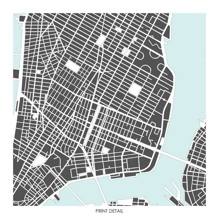 fffa79066a1 new york map art print limited edition by bronagh kennedy - art ...