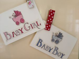 Hand Illustrated New Baby Card - new baby & christening cards