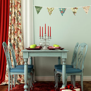 Fabric Christmas Bunting Wall Stickers - home accessories