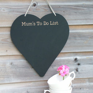 Personalised Engraved Chalkboard - storage & organising