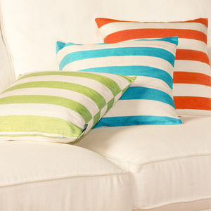 Striped Silk Cushion Covers - bedroom