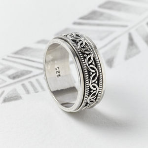 Celtic Spinning Ring - men's jewellery