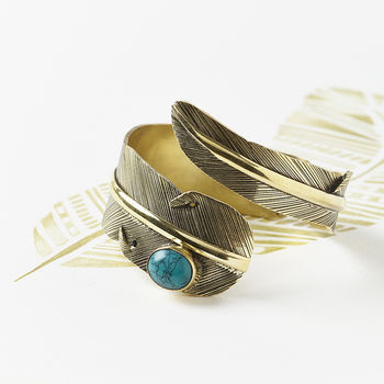 Handmade Feather Cuff