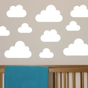 Cloud Wall Stickers - wall stickers by room