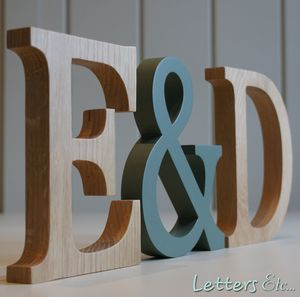 Wooden Letters Traditional Oak - decorative accessories