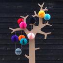 Paper ball garland decoration