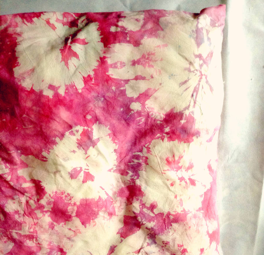 pink tie dye dog bed cover by pup tart handmade