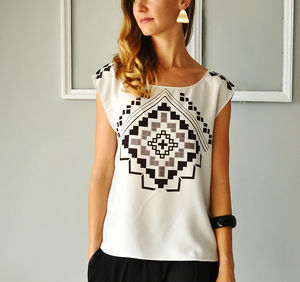 Printed Top - contemporary women's fashion