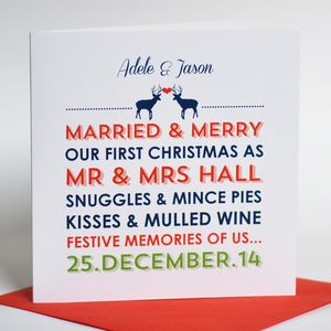 Personalised Couples 'first Christmas' Card - cards