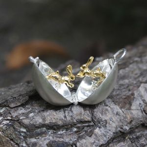 Silver And Gold Hare Egg Locket