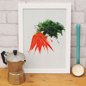 Carrot Vegetable Kitchen Print - posters & prints