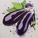Aubergine Vegetable Kitchen Print