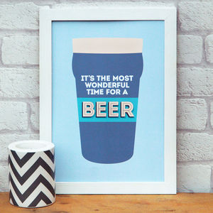 Beer A4 Print - shop by price