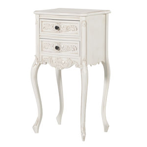Tall Bedside Cabinet In White - bedroom
