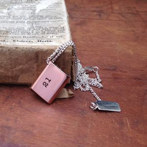 Copper Envelope 21st Birthday Necklace