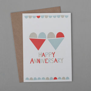 'Happy Anniversary' Heart Card