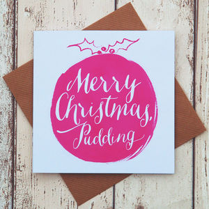 A Magenta Christmas Pudding Card - view all sale items