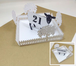 Personalised Name And Age Pop Up Sheep Birthday Card - birthday cards