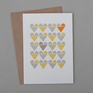 Heart Row Card