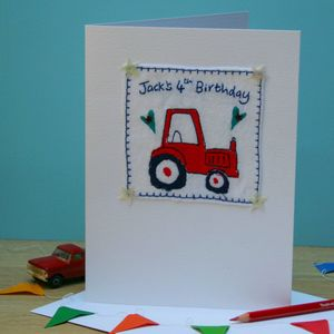 Personalised Birthday Tractor Card