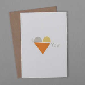 'I Love You' Single Heart Card