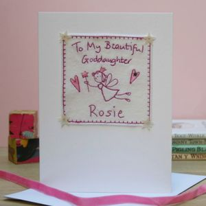 Personalised Fairy Goddaughter Card