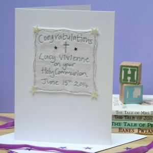 Personalised Christening Cross Card
