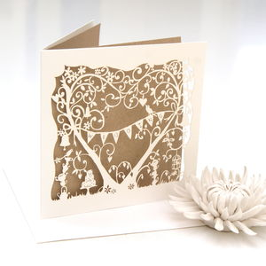 Wedding Garden Party Laser Cut Card - wedding cards