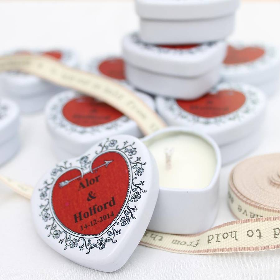 personalised scented candle wedding favours by hearth & heritage ...