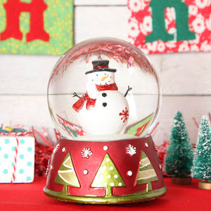 Christmas Snowman Large Musical Snow Globe Dome - christmas home accessories