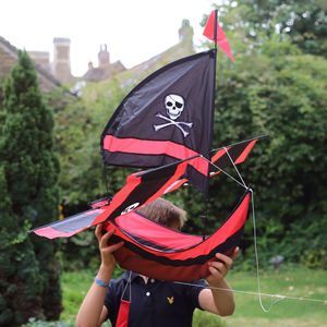 Flying Pirate Boat Kite - outdoor games & activities
