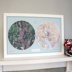 Personalised Double Map - children's pictures & paintings
