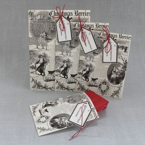 Vintage Inspired Christmas Packets - wrapping