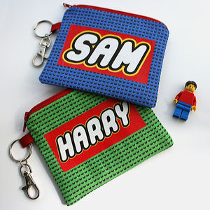 Personalised Building Brick Purse - children's accessories