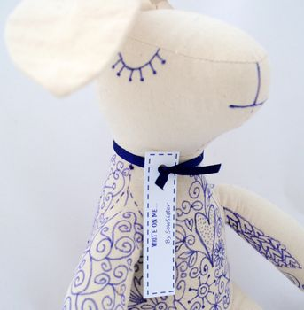 Keepsake 'Write On Me' Signature Bunny Rabbit