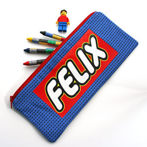 Personalised Building Brick Pencil Case - stationery