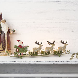 Santa On Sleigh Tea Light Holder - votives & tea light holders