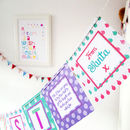 Personalised Letter From Santa Bunting And Gift Box