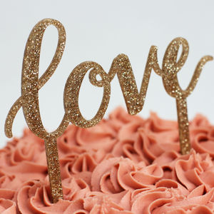 Love Cake Topper - cakes & treats